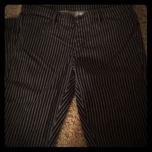 Pinstripe Black and White Jeggings